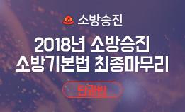 2018년 소방승진 소방장 최종마무리 종합반