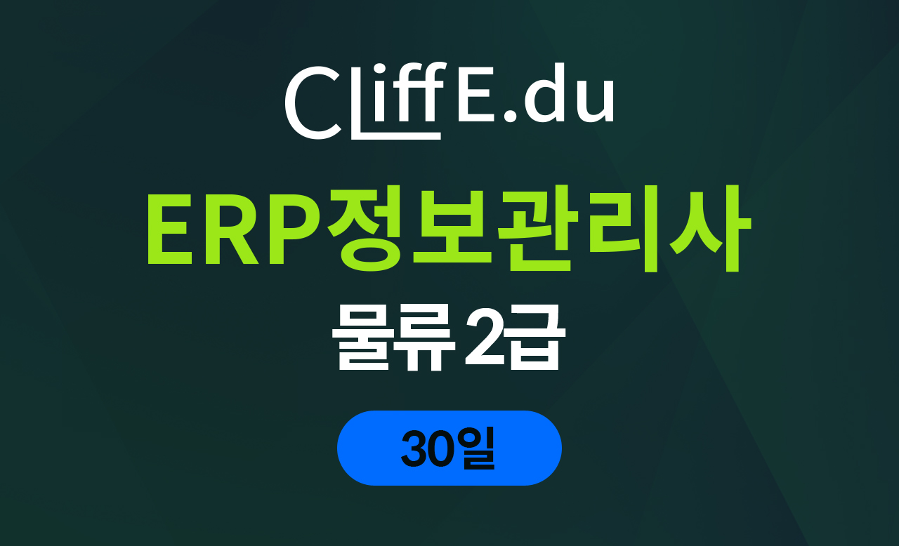 ERP 물류2급 종합반 (30일)