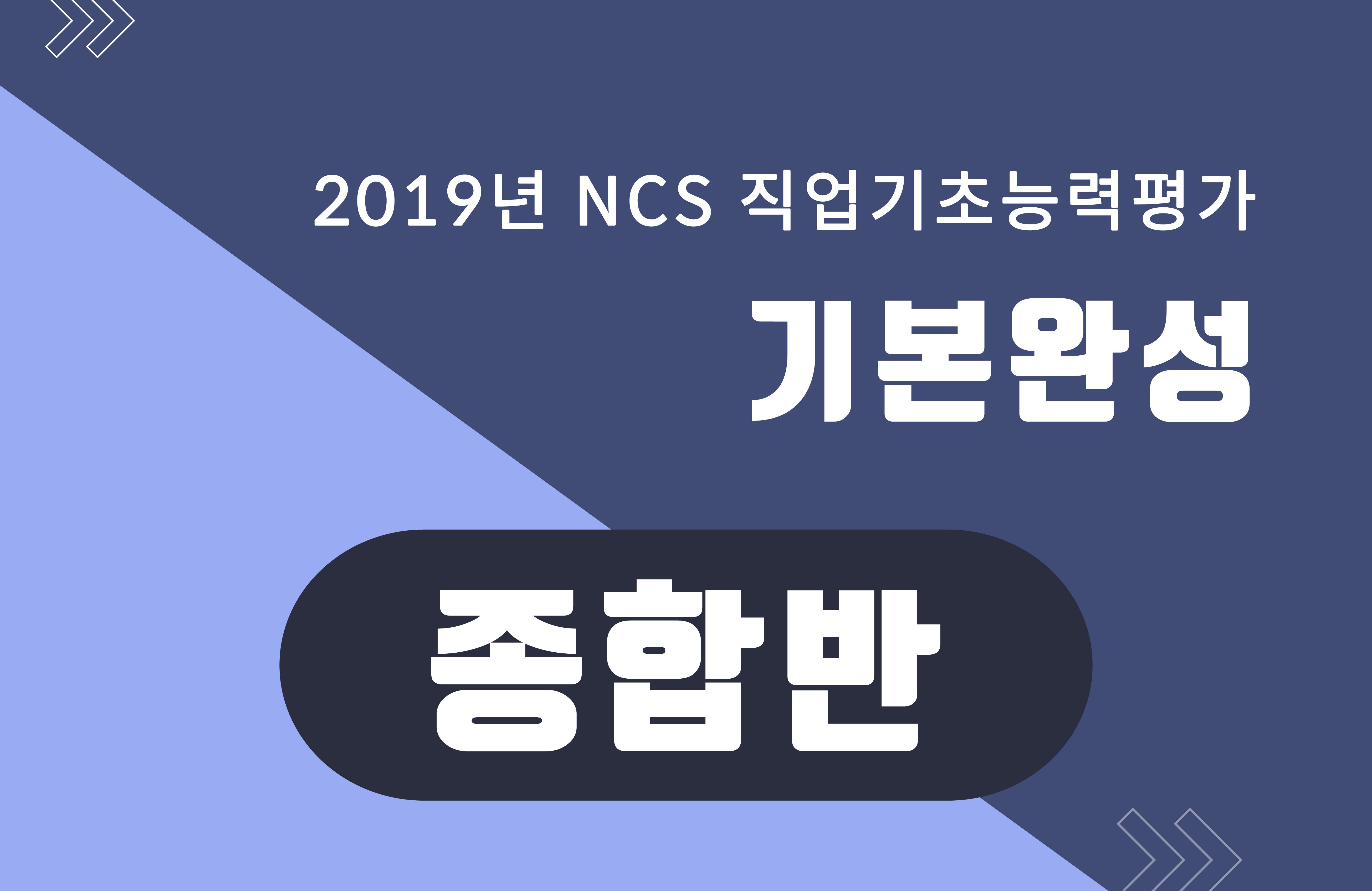 [진짜기출에서 뽑은 256개 유형] 2019 NCS 직업기초능력평가 기본완성